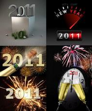 精美立体2011字体设计图片