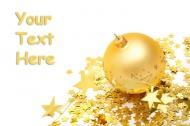 金色圣诞彩球图片