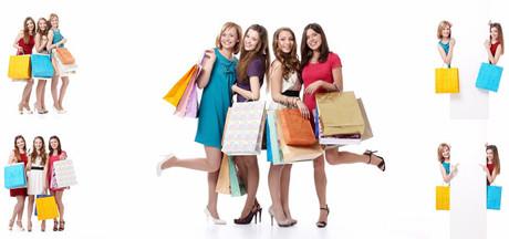 购物美女图片 素彩图片大全