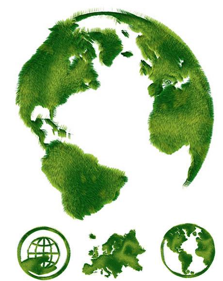 环保主题绿色草皮拼图素材 地球环保篇 高清图片