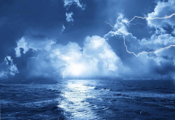 闪电风景图片