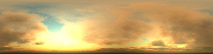 夕阳风景天空美景图片-素彩图片大全