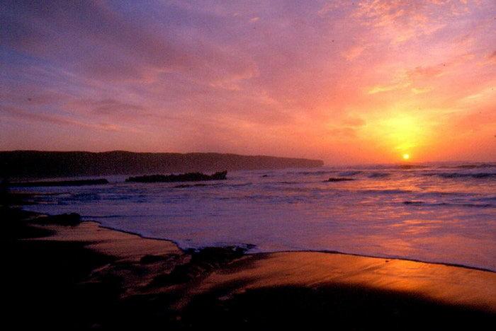 日落海边天空美景图片