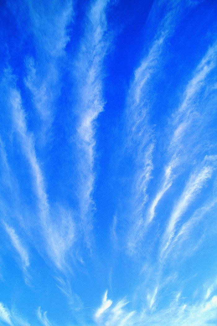 高空白云天空美景图片-素彩图片大全