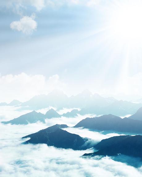 云,阳光,空拍,背景,云海,阳光,云雾,云,大气,天空山脉,山脉,蓝天,风景