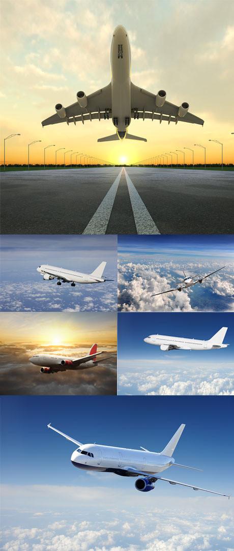 多款天空中的飞机图片