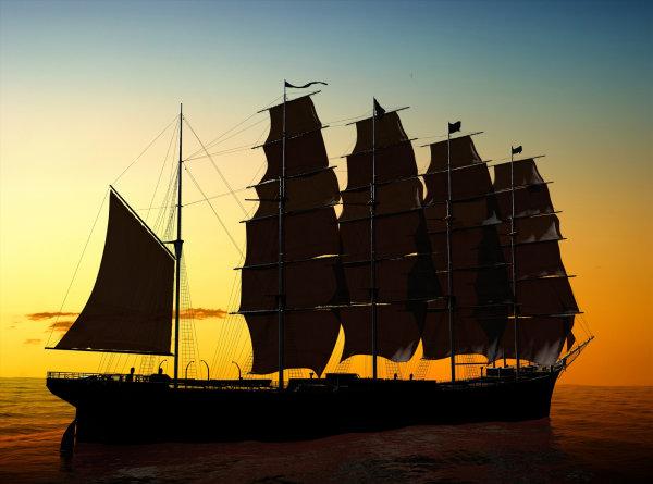 帆船图图1-素彩图片大全