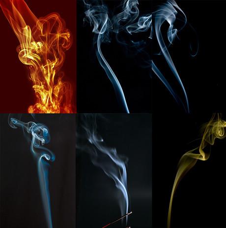 梦幻的烟雾效果图,烟雾,梦幻,科技,探索,未来,蓝色,黄色,潮流纹样