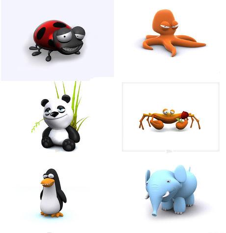 3d可爱的小动物图片