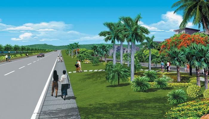 城市绿化设计效果图-素彩图片大全