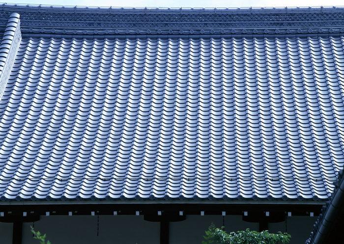 古代琉璃瓦屋顶古建筑-素彩图片大全