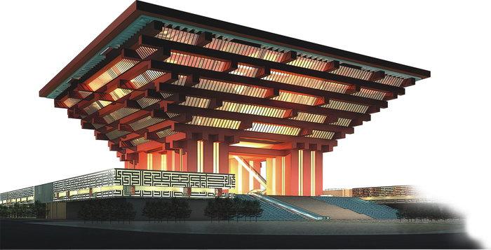 上海世博中国馆效果图建筑设计图片