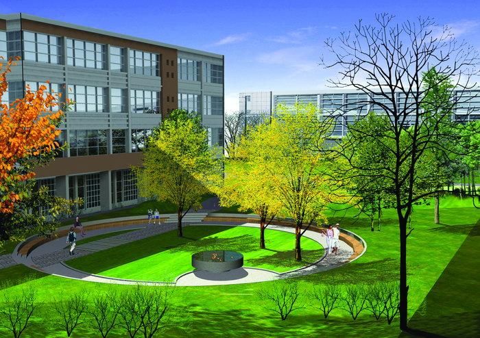 大学校园效果图建筑设计图片-素彩图片大全