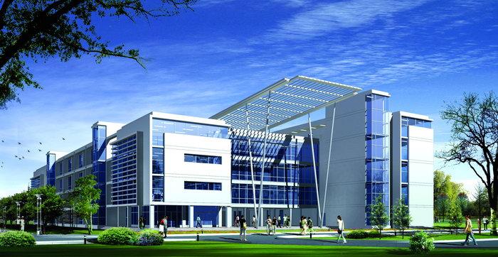 校园设计效果图建筑设计图片高清图片