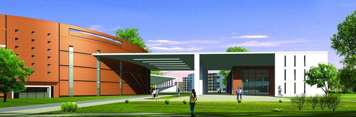 大学校园效果图建筑设计图片