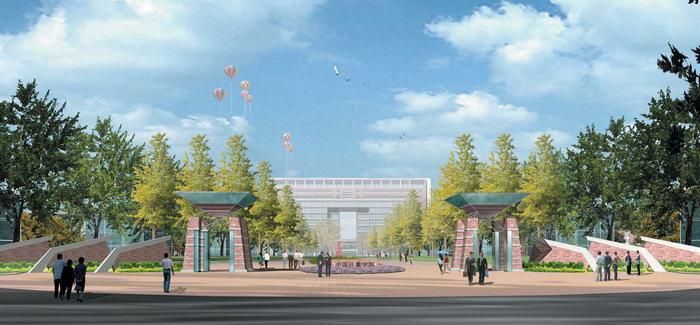 中国计量学院效果图建筑设计图片