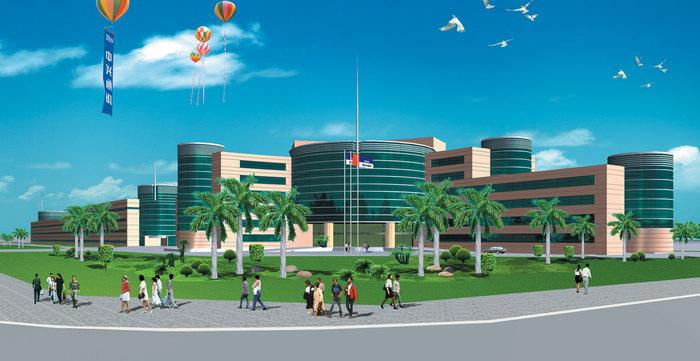 中兴通讯大楼绿化效果图建筑设计图片