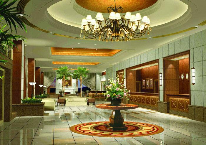 酒店大堂大厅效果图建筑设计图片