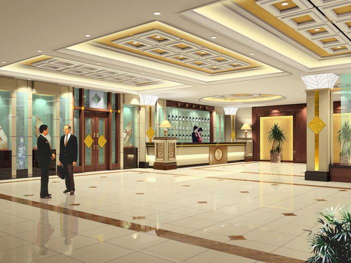 酒店大堂效果图建筑设计图片