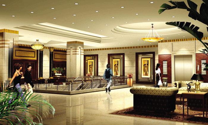 酒店大厅装饰设计建筑设计图片