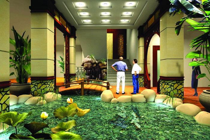 酒店大堂景观设计建筑设计图片