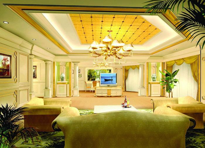欧式风格客厅建筑设计图片
