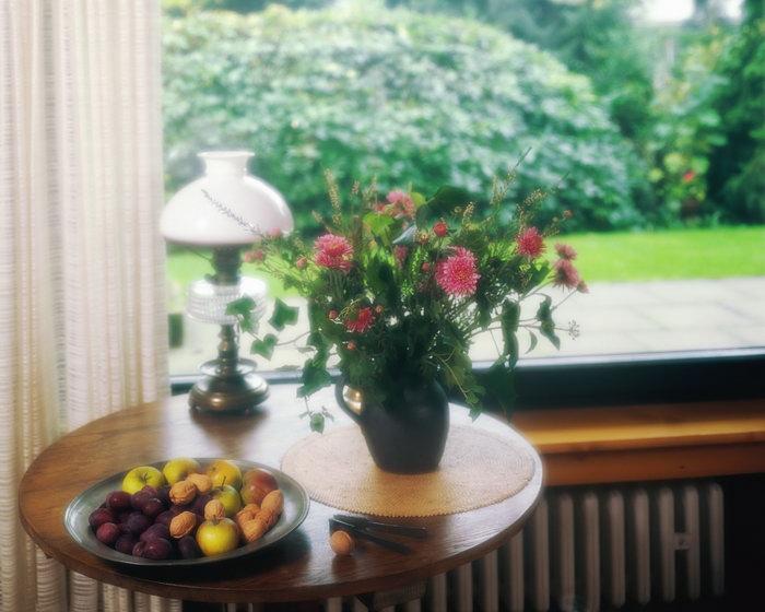 室内花卉摆设建筑设计图片