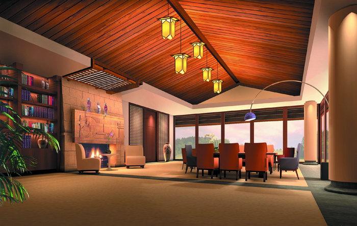 欧式风格大厅建筑设计图片
