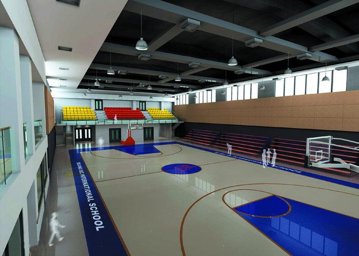 室内篮球场建筑设计图片