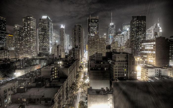 都市夜景图片-素彩图片大全