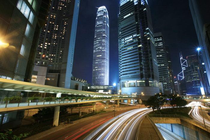 繁华都市夜景图片