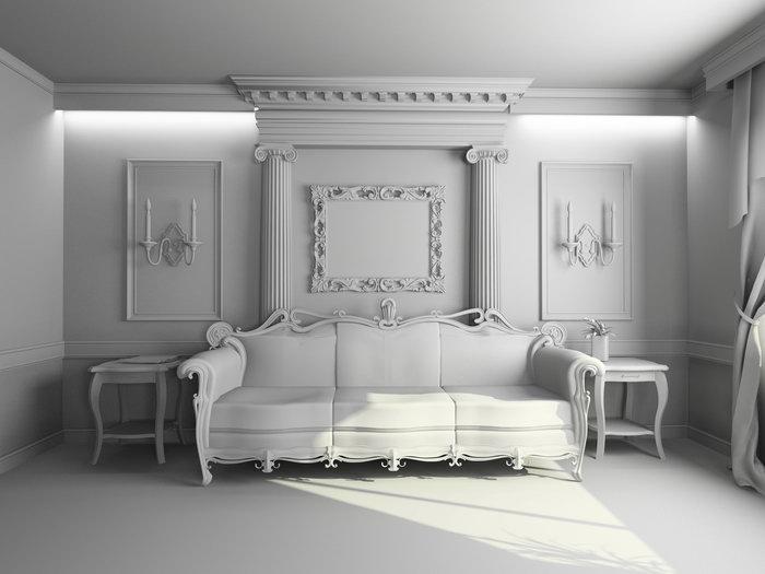 欧式客厅装修图片-素彩图片大全
