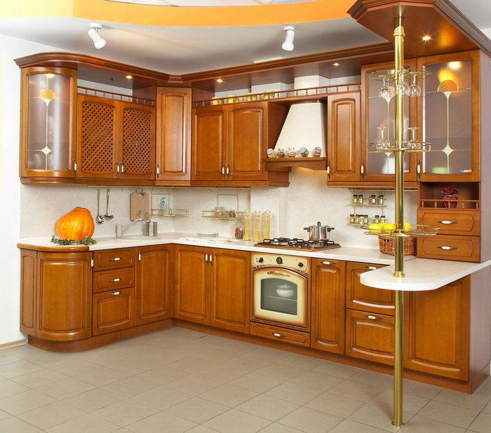 实木厨房图片-素彩图片大全