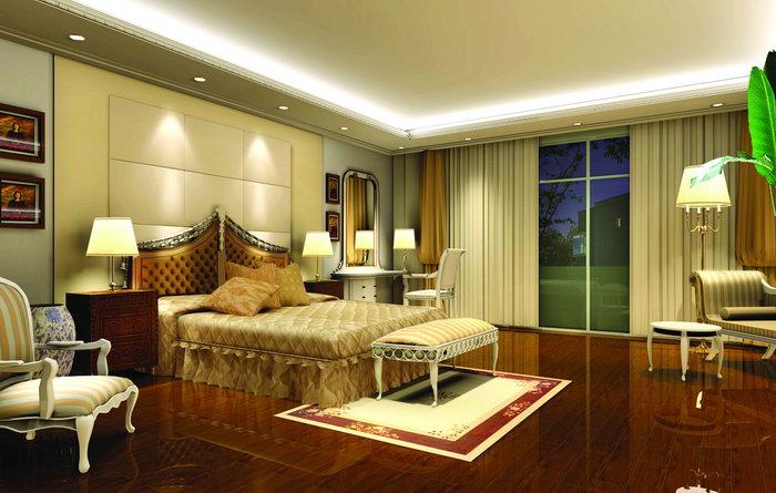 欧式风格卧室床图片-素彩图片大全