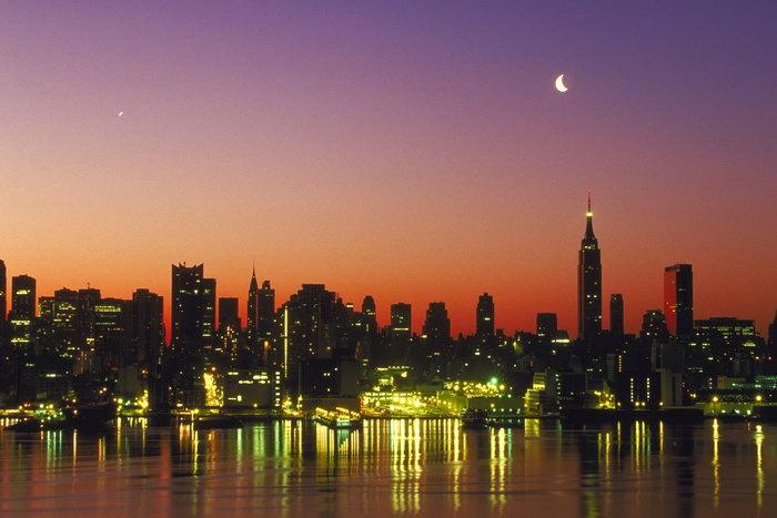 纽约港口夜景图片,纽约港口夜景,美国旅游风景,名胜景观摄景,国外建筑