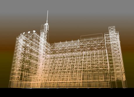 五款建筑物三维结构图片
