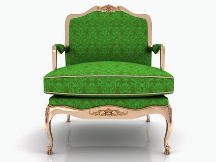 绿色椅子图片-素彩图片大全