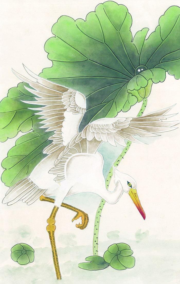 工笔仙鹤图片,工笔仙鹤,国画仙鹤,水墨,丹青,美术绘画,摄影,人文艺术