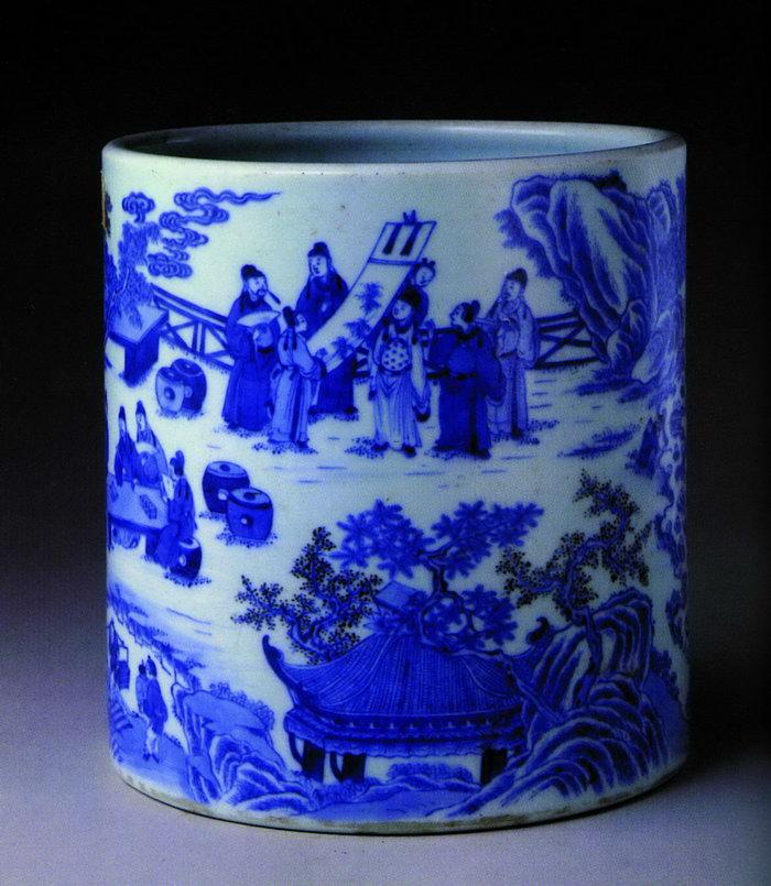 彩绘笔筒瓷器图片,彩绘笔筒瓷器,古代瓷器,传统图案,2260x2598像素