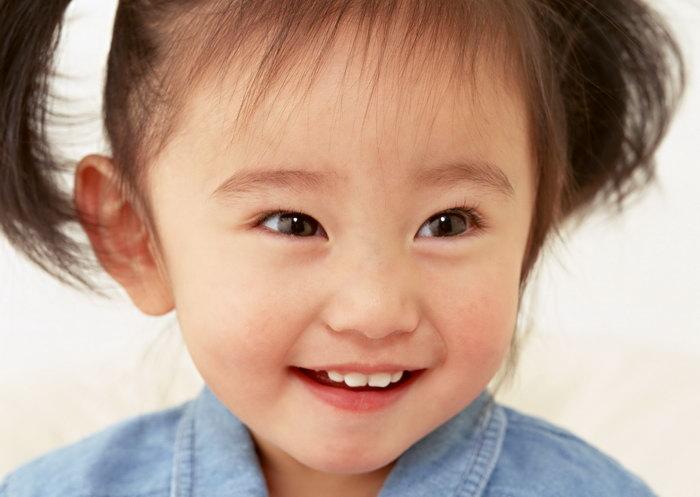 小女孩开心表情图片
