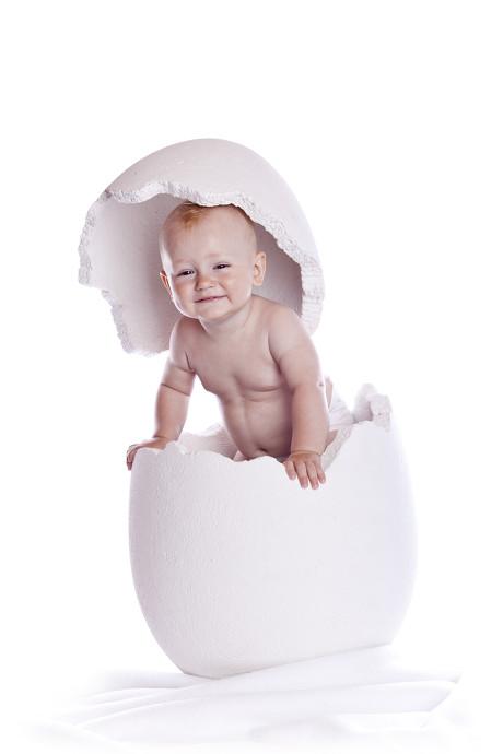 可爱蛋壳孩子图片