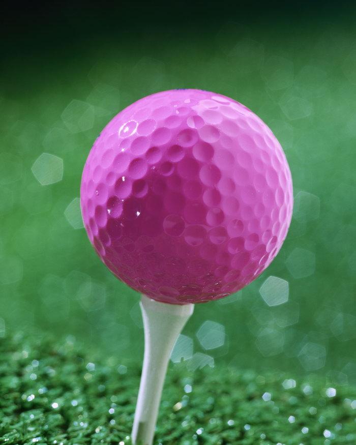 紫色高尔夫球图片-素彩图片大全