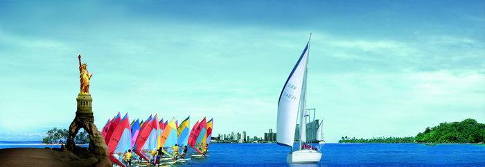 海上帆船图片-素彩图片大全