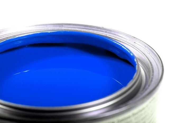 蓝色油漆图片-素彩图片大全