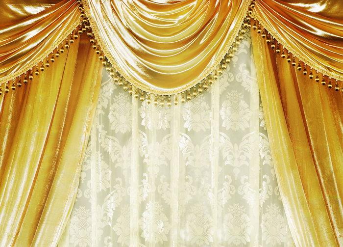欧式窗帘布艺-素彩图片大全