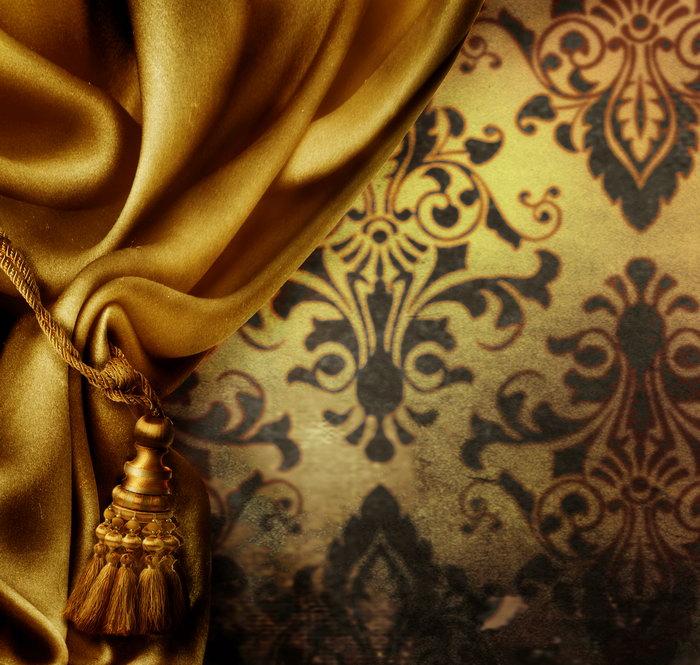 奢华欧式窗帘-素彩图片大全