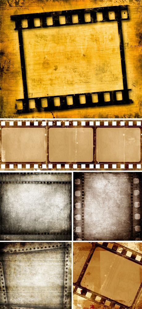 怀旧电影胶片模板图片