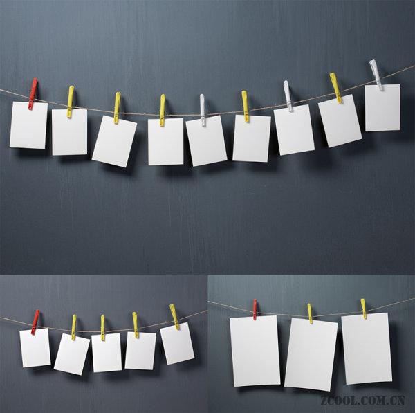 墙面,便签纸,夹子,绳子,粘贴,黏贴,备忘,背景,便签,白纸,白板,标签