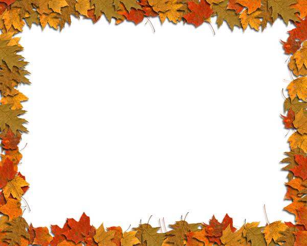 五款树叶边框03图片