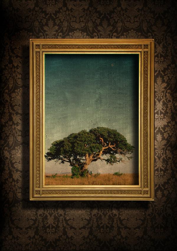 漂亮的欧式相框与墙纸图片6